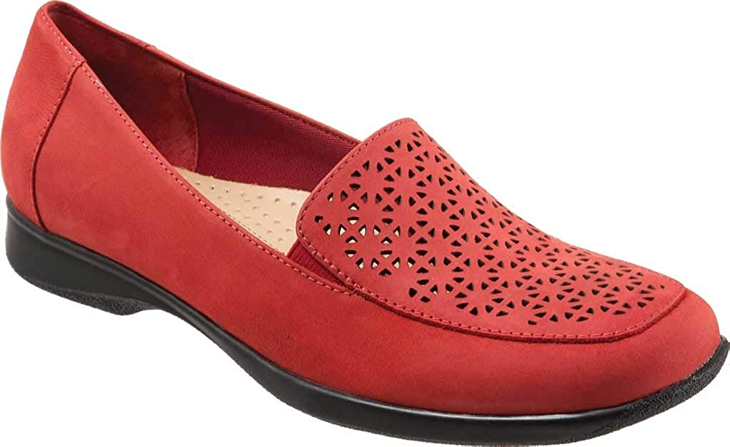 Trotters Jenn Laser Loafers, Red Nu, 6.5 W