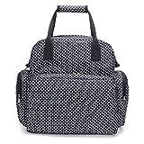 Wickeltasche Rucksack, Multi-Funktions-Wasserdichte Mutterschaft Wickeltaschen für Mama Reisen, Wickelauflage, große Kapazität (Color : Black)