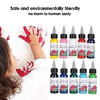 アクリル絵の具顔料、強力な防水および日焼け止め機能アクリル絵の具顔料セット塗装用ポータブル収納ボックス付き