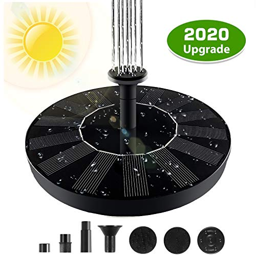 Solar Powered Fountain Pump, Solar Fountain, Solar Fountain Pump for Bird Bath Free Standing Floating Birdbath Water Pumps for Garden, Patio, Pond and Pool