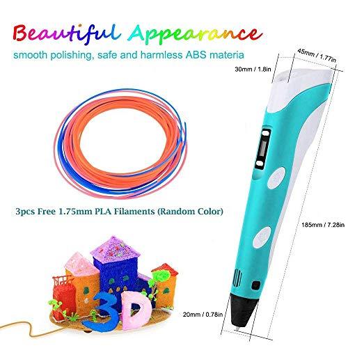 StillCool 3D-Zeichnung Druck 3D Stift gifts LCD-Display for kids & adults Zeichnung und Kunst & handgefertigte Werke Doodle Puzzle Spielzeug - 2
