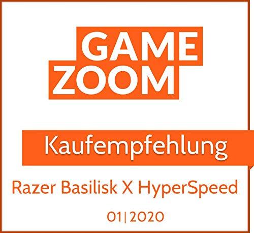 Razer Basilisk X HyperSpeed Wireless Gaming Maus (mit Razer HyperSpeed Technologie, Kabellos, 5G Advanced Optical Sensor und 6 Freikonfigurierbaren Tasten) Schwarz - 8