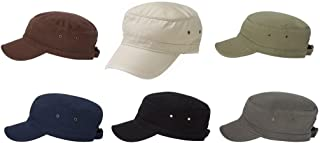 ECOnscious 100% Organic Cotton Twill Corps Hat - 6 Pack (Grey, Black, Navy, Brown, Stone, Army)