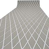 LUBEMIDA EVA Boat Flooring Carpet with Cross Groove Marine Teak decking Sheet for Yacht,74.8'×27.5' Self Adhesive (Light Grey +White Cross)
