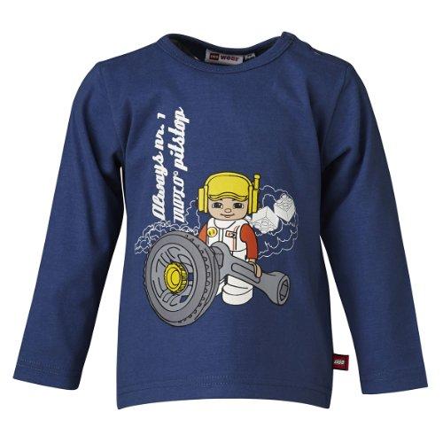 LEGO Wear T-shirt Col ras du cou Manches longues Bb garon - Bleu - Blau (573 JEANS BLUE) - FR : 18 mois (Taille fabricant : 86)