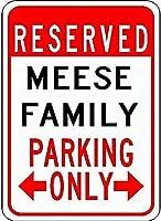 金属看板ミーズファミリーパーキングノベルティスズストリートサイン