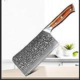 hjbds Cuchillo de carnicería de 6,5 Pulgadas Damasco de Acero Cuchillos de Cocina de Acero Inoxidable Verduras de Carne Cuchillo de Cuchillo de Cuchilla