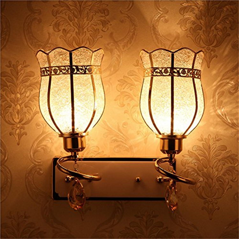 Modern LED Wandleuchte Nacht kristall wandleuchte einzigen kopf kreative Gold spiegel vorne schlafzimmer wandleuchte wohnzimmer gang flur 320mm  320mmHaus, Bar, Restaurants.Vintage Retro Café.
