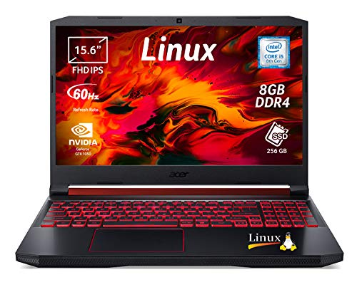 "Acer Nitro 5 AN515-54-54VX Notebook Gaming con Processore Intel Core i5-8300H, Ram da 8 GB DDR4, 256GB PCIe NVMe SSD, Display 15.6"" FHD IPS LED LCD, Scheda Grafica NVIDIA GeForce GTX 1050 3GB, Linux"