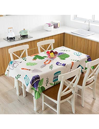 ZZJ Mesa Planta Mantel En Macetas Cocina Decoraciones De Mesa De Comedor Hogar Rectangular Party Table Cover, 5,100X140Cm