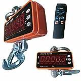 Báscula industrial, báscula de carga, báscula colgante, batería, mando a distancia, pantalla LED, báscula industrial, 1000 kg