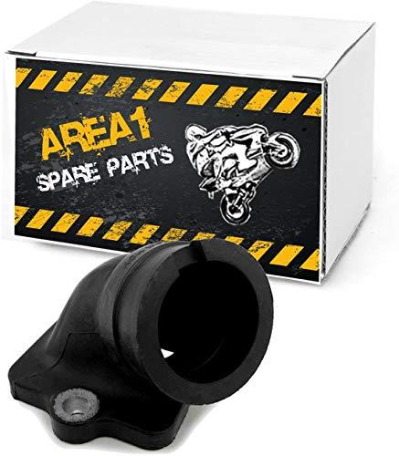 Ersatz Ansaugstutzen kompatibel mit Piaggio Motoren 50 125 150 180 ccm 2 Takt (Piaggio 125ccm)