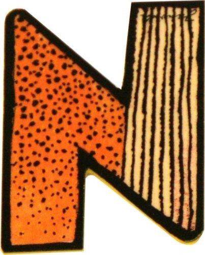 Janosch Buchstaben Holzbuchstaben N ca. 6cm