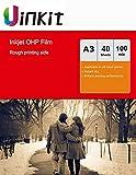 OHP Film - Lámina para impresora de inyección de tinta (A3, A4,...