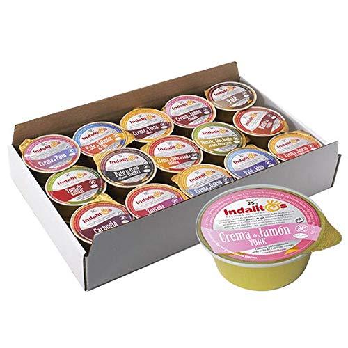 Indalitos - Crema de Jamón York - Caja 14 Bandejas de 30 Monodosis 25 g