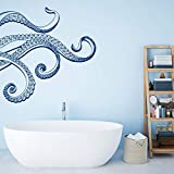 A Good Decals USA Wall Decal-Octopus Tentacle Wall Decal-Kraken Wall Decal-Octopus Bathroom Decor-Nautical Bathroom Decor-Waterproof Stickers-Sea Animals Stickers-agdFMBK0015
