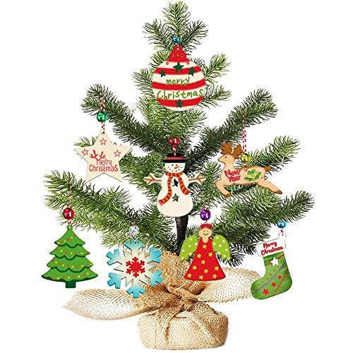 Christmas Advent Charms Kalender Hängende Ornamente Baum, Weihnachtsbaum Wanddekorationen für Weihnachtsferien Dekor für Kinder Erwachsene