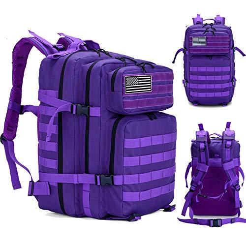 DADZSD 45L Mochila Militar para Hombre/Mujer Tactical Crossfit Gym Bag Fitness Impermeable Molle Bug out Bag Mochila de Trekking de Senderismo al Aire Libre