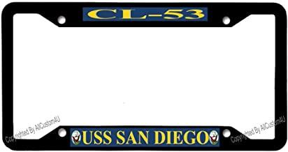 Personalize License Tag Holder Aluminum Metal 4 Holes & Free Screws for US & Canada Vehicles
