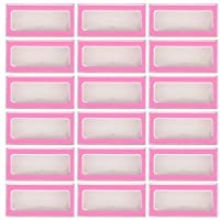 rosenice まつげボックス空まつげケースつけまつげ収納ボックスまつげ包装ボックス女性のための30個 (ピンク)
