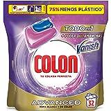 Colon Vanish Advanced Detergente para lavadora con quitamanchas, adecuado para ropa blanca y de color, Formato cápsulas - 32 lavados