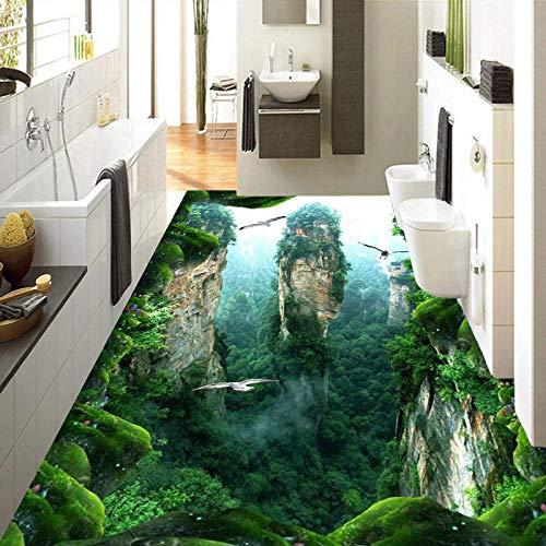 para bao y cocina suelo de para el suelo Custom 3D Mural Floor Wallpaper Cliff Scenery PVC Wear Impermeable para baño Pegatinas de pared de piso 3D Vinilo Papel de pared de cocina-400 * 280cm