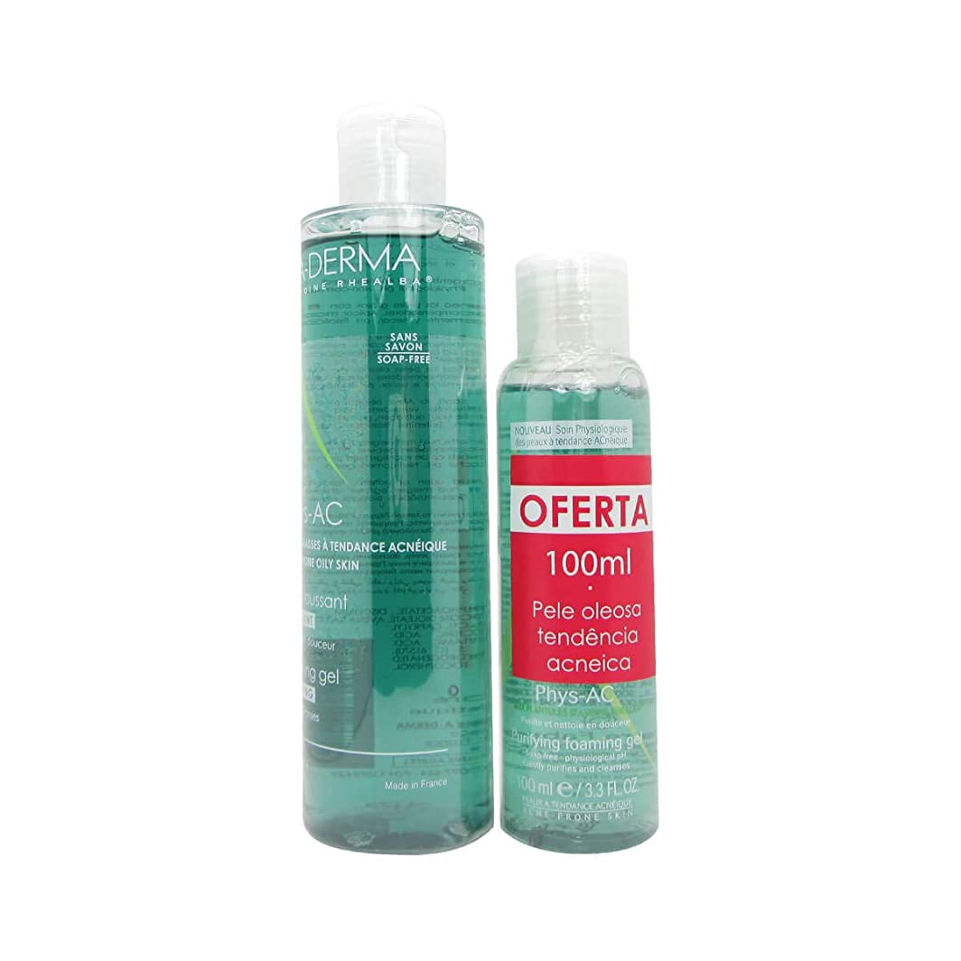 ファブリック蒸留第A-Derma Phys-Ac Purifying Foaming Gel 200ml + 100ml