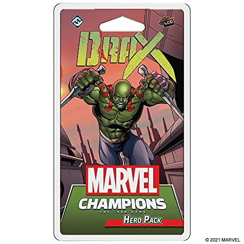 Marvel Champions: The Card Game - Drax Hero Pack | Marvel Card Game for Teens and Adults | Ages 14+ | for 1-4 Players | Average Playtime 45 - 90 Minutes | Made by Fantasy Flight Games