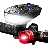Bicycle Headlight 800 Lumen USB Rechargeable 5...