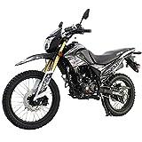 X-Pro Hawk DLX 250 EFI Fuel Injection 250cc Endure Dirt Bike Motorcycle Bike Hawk Deluxe Dirt Bike Street Bike Motorcycle with Bluetooth Speaker(Black)