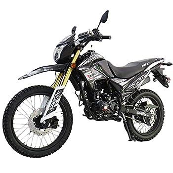 X-Pro Hawk DLX 250 EFI Fuel Injection 250cc Endure Dirt Bike Motorcycle Bike Hawk Deluxe Dirt Bike Street Bike Motorcycle with Bluetooth Speaker Black