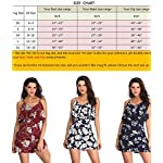 Size Chart for Wudodo Rompers for Women Off Shoulder Sleeveless Straps Floral Print Ruched Short Jumpsuit