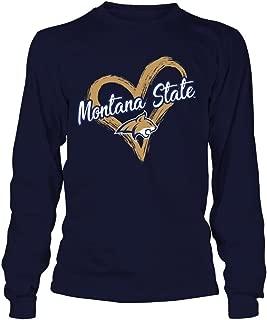 FanPrint Montana State Bobcats T-Shirt - Drawing Heart