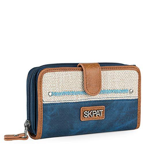 SKPAT - Carteras de Piel Sintética para Mujer Fabricadas con Materiales Ecologicos. Monedero Billetera y Tarjetero 307516, Color Azul