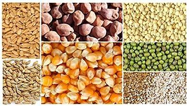 Kitchen Jungle Seven Assorted Grains | 7 Dhan | Dhaan | sapt dhany for Pooja ( सप्त धान्य / 7 धान ) (50 Grams Each)