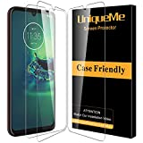 [3 Pack]UniqueMe Protector de Pantalla para Motorola Moto G8 Plus,[9H Dureza ] [Sin Burbujas] Cristal Templado HD Film Vidrio Templado Fácil de Instalar Screen Protector para Motorola Moto G8 Plus