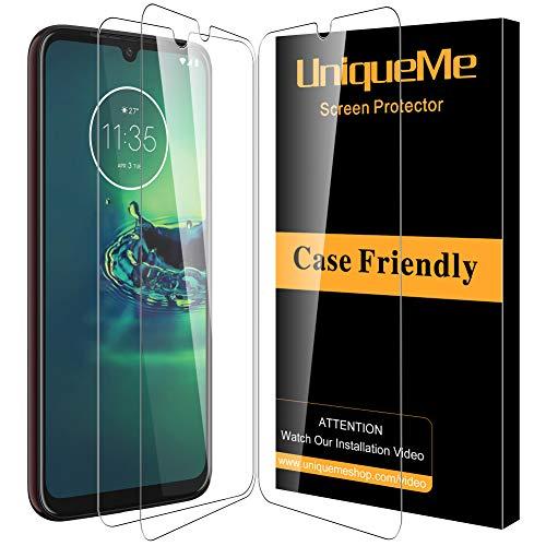 UniqueMe [3Pack] Schutzfolie für Motorola Moto G8 Plus Panzerglas, Bildschirmschutz für Motorola Moto G8 Plus, HD klar Folie gehärtetes Glas