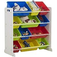 Teeker Kids Toy Storage Organizer with 12 Plastic Bins