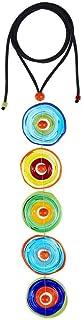 Pendente Artigianale 5 Color Energy in Vetro di Murano Collana Donna Color Mix