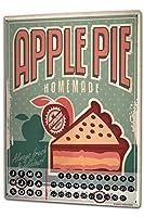 カレンダー Perpetual Calendar Kitchen Apple Pie Tin Metal Magnetic