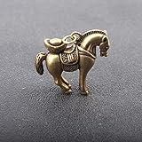 YXYSHX Outdoor-Statuen Kupfer Krieg Pferd Schlüsselanhänger Anhänger Vintage Messing Tier -Horse_Ingot