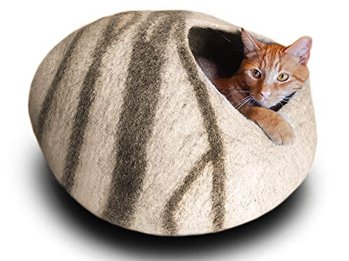 MEOWFIA Premium Felt Cat Cave Bed