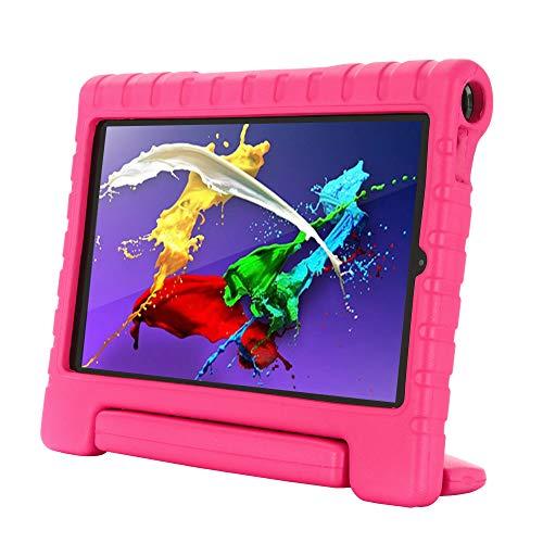 Kavon Funda para Lenovo Yoga Tab 5 YT-X705F 10.1 Pulgadas,Soporte de Mango Convertible a Prueba de Golpes EVA, Cubierta Protectora para Tableta Ligera para Niños (Rosa)