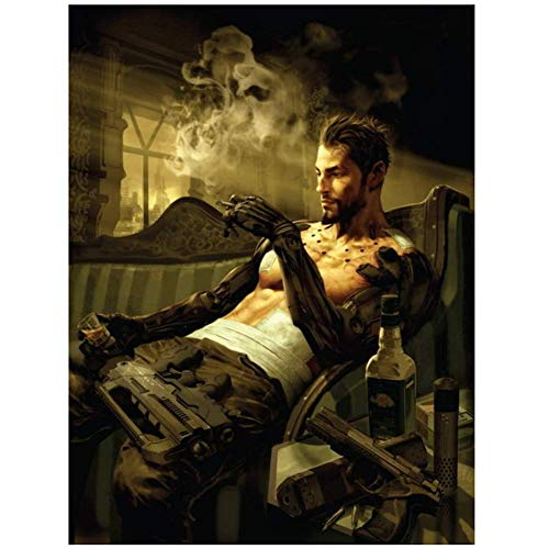 Deus Ex - Action Role Playing Video Game Poster Print op canvas-Geen frame