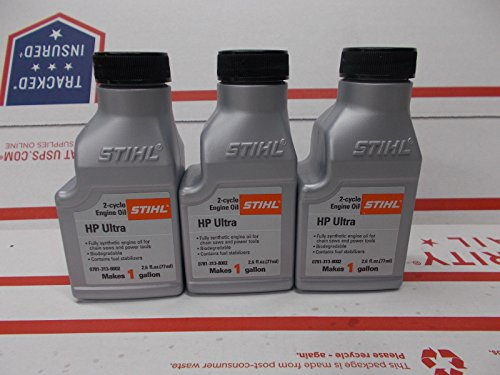 Stihl 3 Pack Synthetic Oil Mix 50:1 HP Ultra 2-Cycle 1...