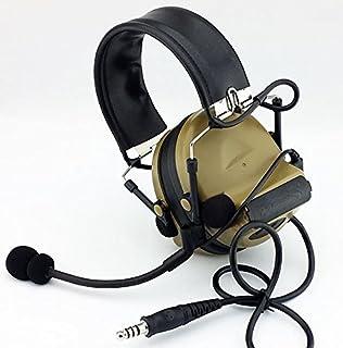 Tomtac Airsoft COMTAC II 2 Headset Mic Boom Radio PELTOR Design Tan DE