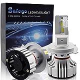 H4 LED Faro Bombillas Kit - Safego 72W LED Chips 6000LM LED Coche Kit de Conversión Reemplazo Para Lámparas Halógenas o Bombillas HID 12V F2-YD-H4