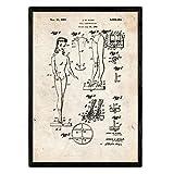 Nacnic Poster con Patente de Muñeca Infantil. Lámina con diseño de Patente Antigua en tamaño A3 y co...