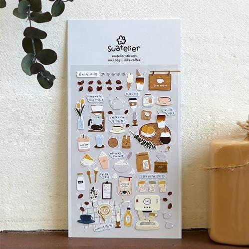 PMSMT Ich mag Kaffee dekorative Aufkleber Scrapbooking Stick Aufkleber Tagebuch Briefpapier Album Kawaii PVC Aufkleber