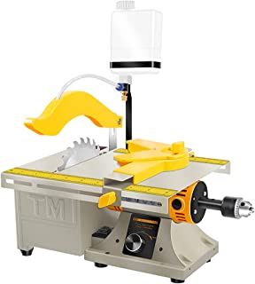 LIBAOTML Mini Table Saw for Hobbies - Small Multipurpose Woodworking Table Top Saw - Portable Hobby Cutting Machine for DI...